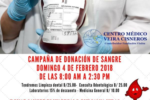CAMPAÑA DE DONACION DE SANGRE - enero 2018