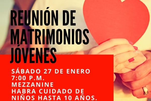 REUNION DE MATRIMONIOS JOVENES - ENERO 2018