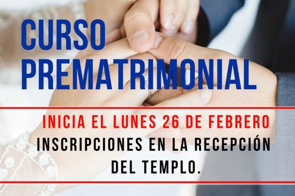 CURSO PREMATRIMONIAL 2018