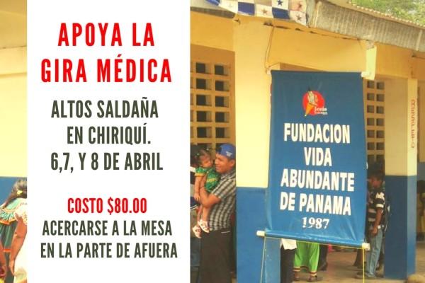 Fundación Vida Abundante de Panamá a Altos Saldaña en Chiriquí.